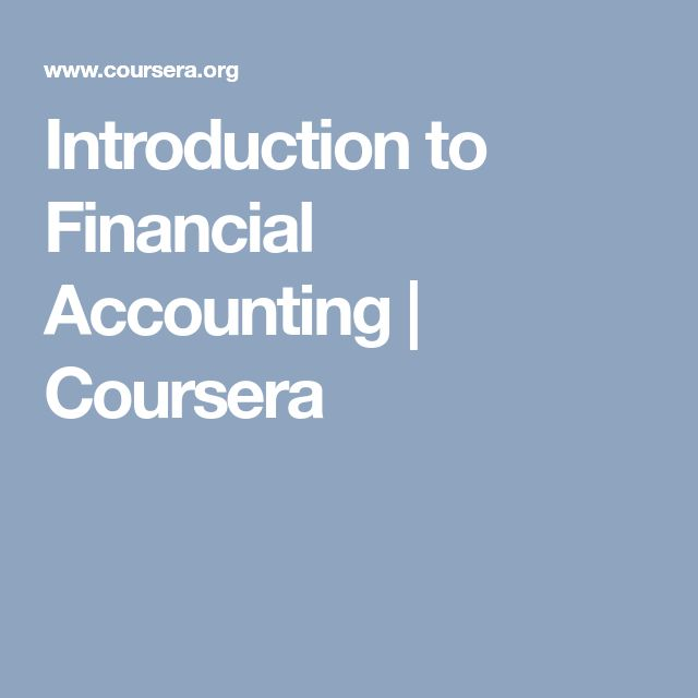 Introduction to Financial Accounting   Coursera