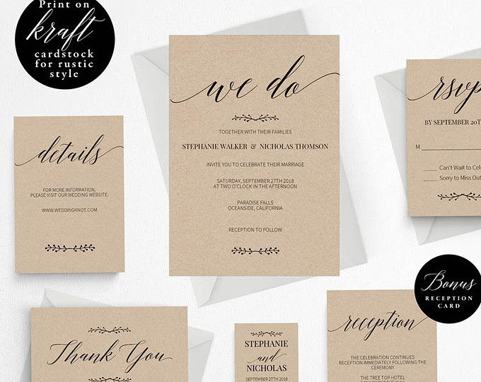 25+ parasta ideaa Pinterestissä Rustic wedding invitations cheap - vintage invitation template