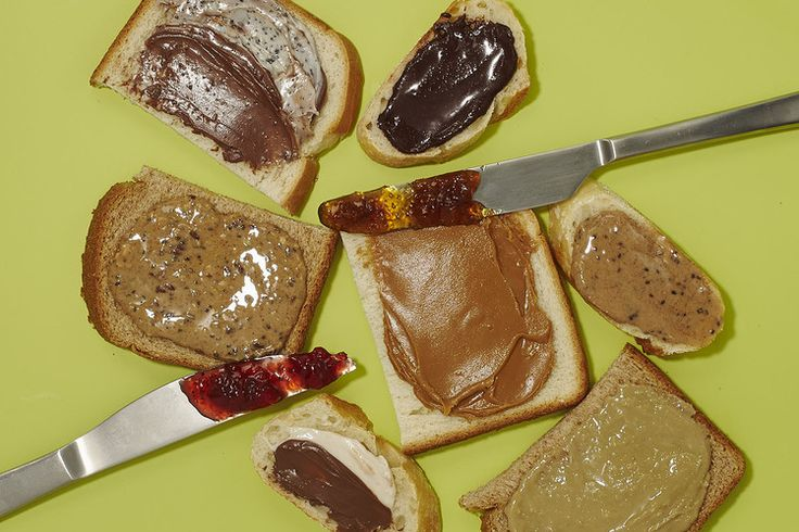 Alternatives to Peanut Butter Are Taking Over Lunch |  Cashew and almond butters, hazelnut and cookie spreads all have plenty of protein and, in some cases, sugar | Pictured: Spreads, clockwise from top left: Jif Cookies 'n Cream Hazelnut, MaraNatha Dark Chocolate Almond, Barney...