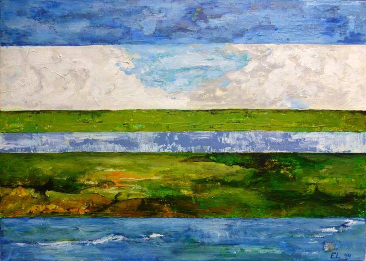 Dutch Landscape, by Eric. Painting artist at Art studio Eduard Moes