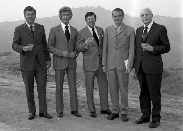 Mortimer J. Matthews, Craig Ellwood, Don Kubly (Art Center College of Design president), Charles Eames, Philip S. Fogg