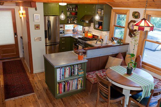 I love this little kitchen, it's featured on Apartment Therapy as one of the small cool kitchens 2011.