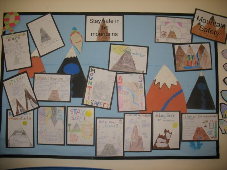 Safety in the mountains display - Hartsfield JMI Primary