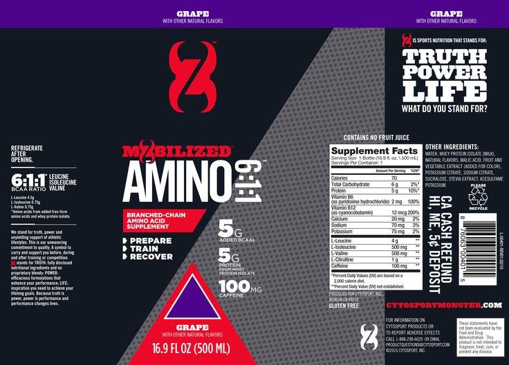 CytoSport Monster Amino RTD – 12 PACK | Nutrition Warehouse Canada