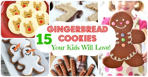 15 Gingerbread Cookies Your Kids Will Love! || Letters from Santa Holiday Blog