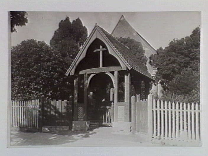 The original gate & fence of St John's Soldiers Hill. Ballarat.