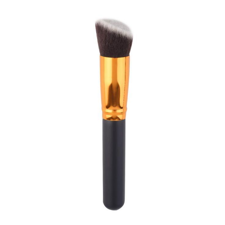 Cosmetico professionale Make up Powder Foundation Brush Blush Angolato Flat Top Liquido Base Trucco Cosmetico Strumento Pennello di alta qualità