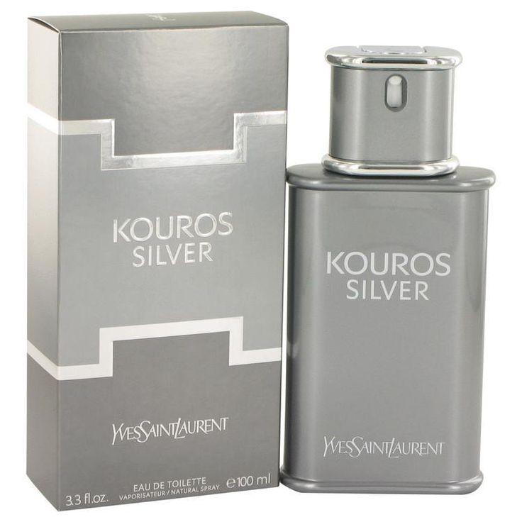 Kouros Silver by Yves Saint Laurent Eau De Toilette Spray 3.4 oz