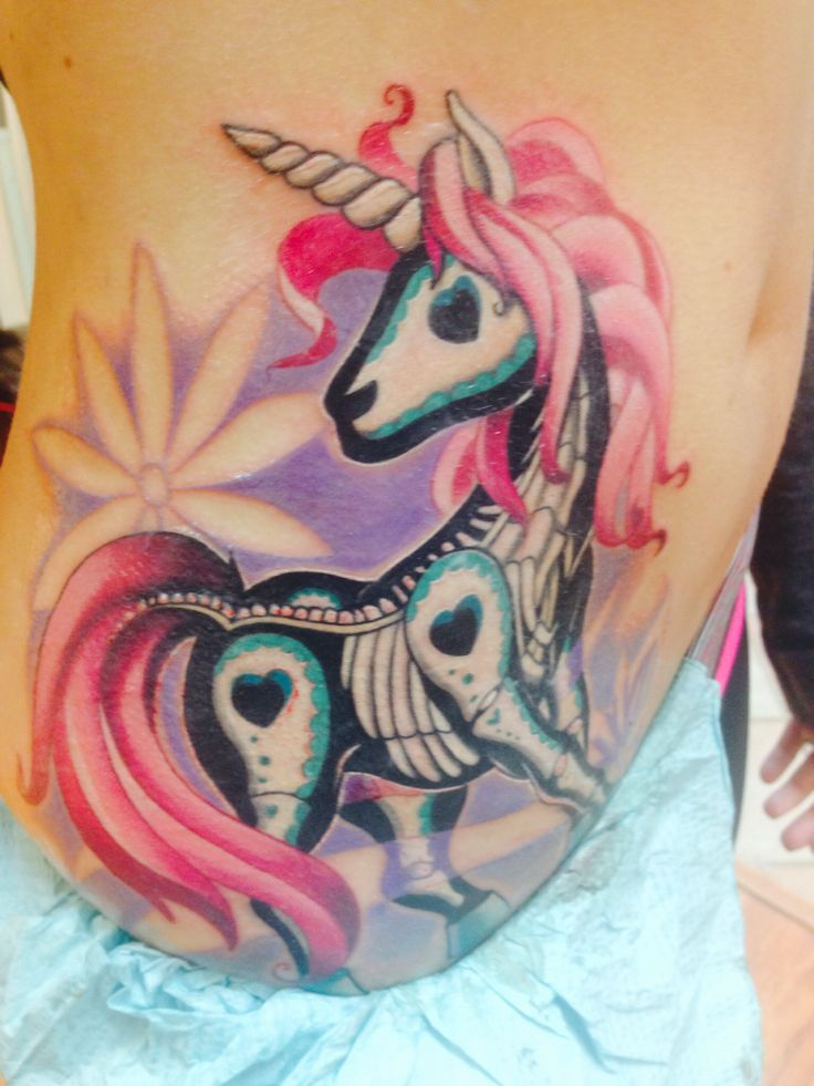 Sugar Skull Unicorn by Christa Z. at Into The Woods Gallery ❤️