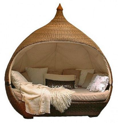 day beds: Outdoor Beds, Unique Beds, Books, Gardens, Places, Nests, Outdoor Reading Nooks, Bedrooms Furniture, Sleep