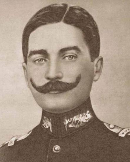 1881-1915 yılları arası Atatürk albümü. Kurmay Kıdemli Yüzbaşı Mustafa Kemal, Şam, Haziran 1907