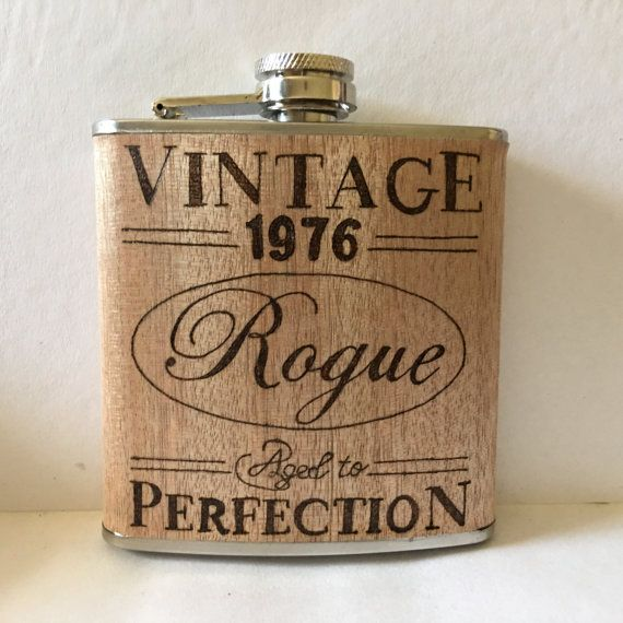 Personalised wood burned hip flask any design by BeckysCraftShack