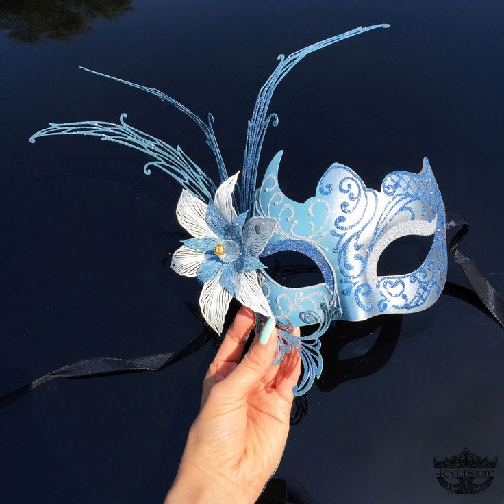 Masquerade Mask, Mint Blue Mask, Silver and Light Blue Masquerade Mask, 3D Flower Details, Masquerade Ball Mask, Venetian Masquerade Mask by 4everstore on Etsy https://www.etsy.com/listing/236782821/masquerade-mask-mint-blue-mask-silver