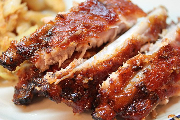 Свиные рёбрышки барбекю почти как в Tony Roma's