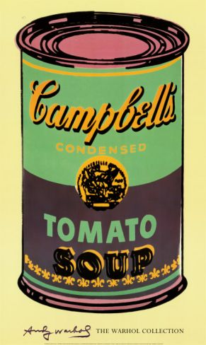 Campbell's Soup Can, 1965 (Green and Purple) Print by Andy Warhol at Art.com