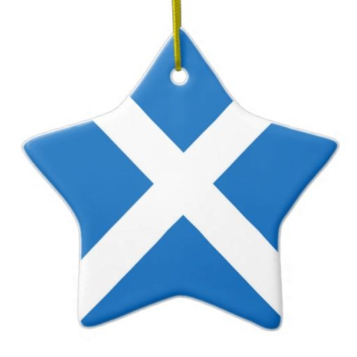 Scotland flag star ornament