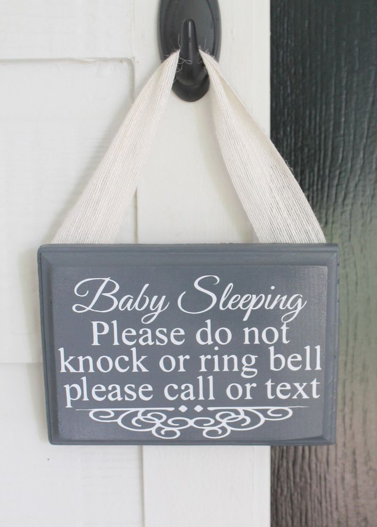 Baby Sleeping Sign, please call or text, baby sleeping front door sign, do not disturb, shhh baby sleeping, do not knock, do not ring bell by SawdustAndGlitterCo on Etsy https://www.etsy.com/listing/239334252/baby-sleeping-sign-please-call-or-text