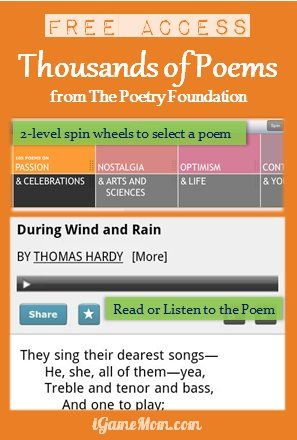 Free Poetry App with 1000+ poems, updated monthly with new poems. #kidsapps #FreeApps