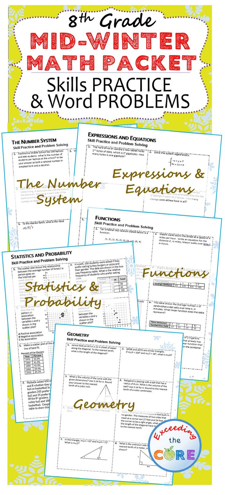 165 best 8th Grade Math COMMON CORE images on Pinterest | 8th ...