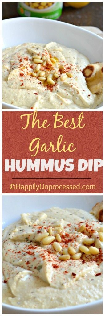 Hummus is one of those dips that are healthy, full of protein and iron and best when made fresh at home with just a few ingredients!  #hummus #garlic #healthy
