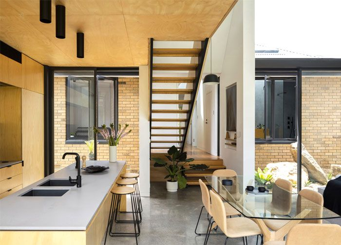 Yellow Brick House Extension Modern Kitchen Design House And Home Magazine Home