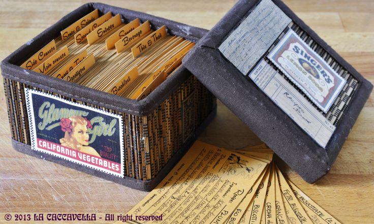 Ricettario in schede con template stampabili