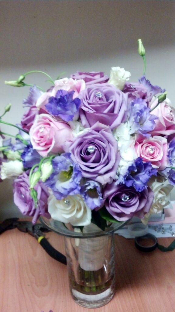 Pretty pastel colored bridal party bouquet. Toronto/GTA florist  #lavender #pink #white #flowers