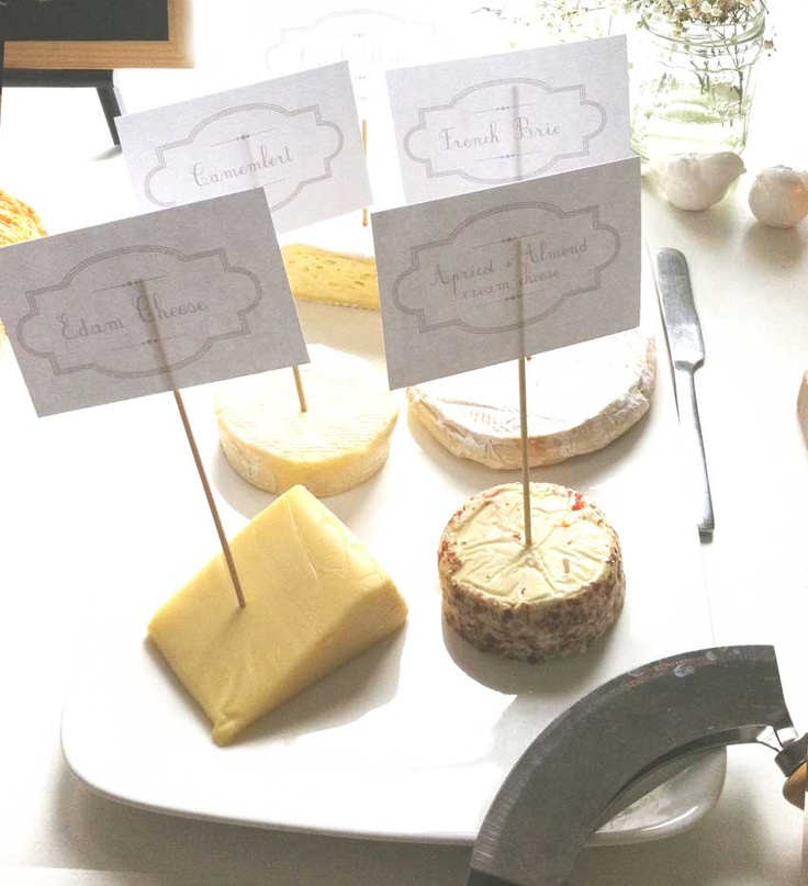 Cheese and canape table for a 'girls only' function -cheese