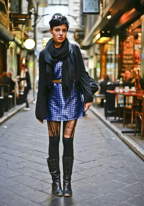 Shiny Blue Alleyway Melbourne Australia Street Fashion Style Edits Melbourne Fashion