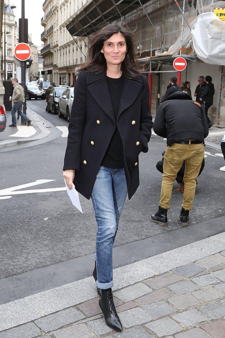 Pin for Later: Das sind die 21 am besten gekleideten Frauen der Fashion Week Emmanuelle Alt Wer sie ist: Chefredakteurin von Vogue Paris. Was ihren Stil ausmacht: Understated und zurückgenommen mit ein wenig Rocker-Schick.