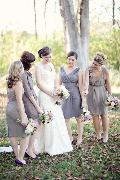Pretty Shade of Bridesmaids Dresses