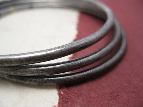 Iron Bangle  rigid bracelet with round hoop by daganigioielli, $18.50