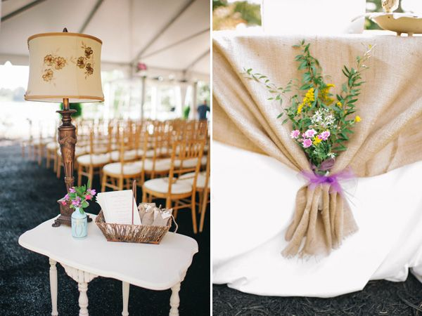 Love these rustic and vintage details | Real SoMd Wedding: Country Chic on St. Inigoe's Creek | SoMdWeddings.com | Photos by Amanda Adams Photography