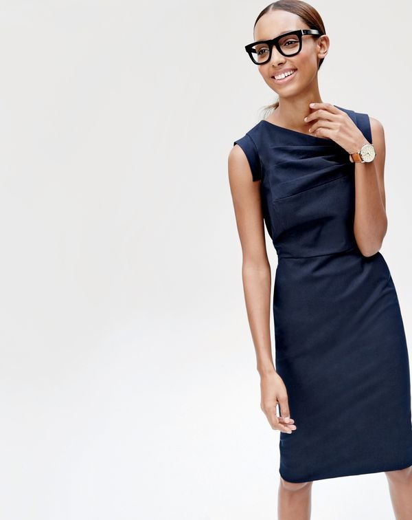 The J.Crew women's promotion dress. We can't exactly promise it'll get you the corner office, but we can promise you'll look amazing all day. To pre-order, call 800 261 7422 or email verypersonalstylist@jcrew.com.
