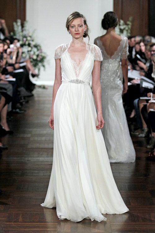Vintage inspired wedding dress from Jenny Packham | via junebugweddings.com