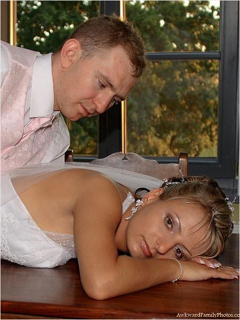 Awesomely Awkward Wedding Photo