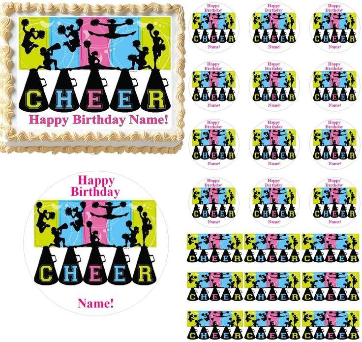 Cheerleading Cake, Cheerleading Party Supplies, Cheerleading Cupcakes