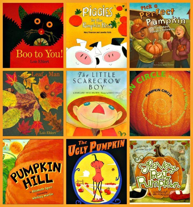 Scarecrow and pumpkin Storytime with craft ideas at the bottom.