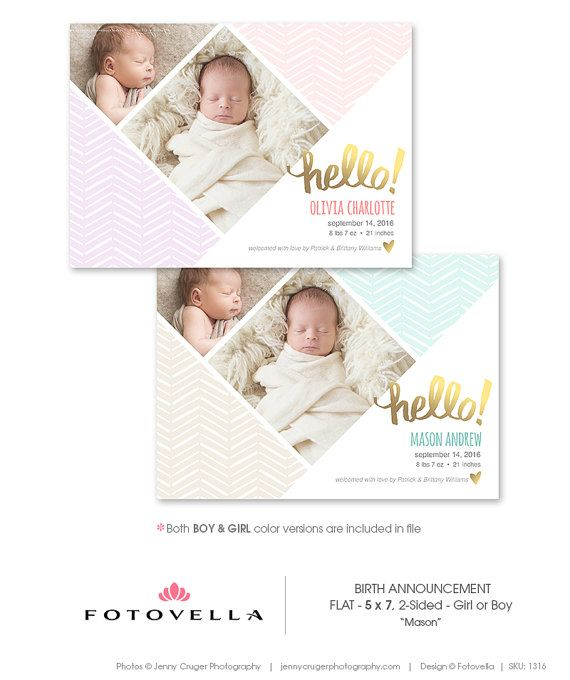 143 best Photoshop Templates for Photographers images – Birth Announcement Photoshop Template