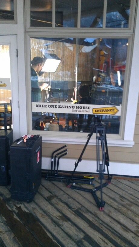 """""""You Gotta Eat Here!"""" & Food Network Canada filming at Mile One Eating House in Pemberton Gateway Village Suites Hotel building"""