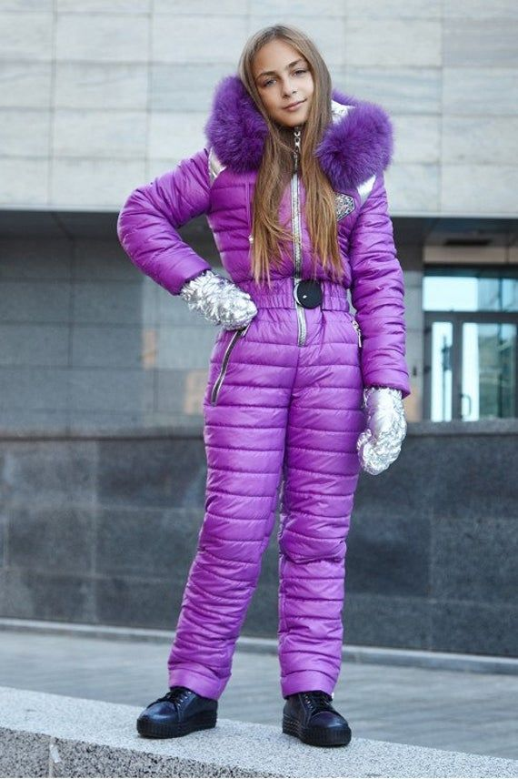 Teenager Ski Jumpsuit With Silver Mittens Children Suit Kids Snow Teens Winter Warm Down Snowboarding Black Blue White