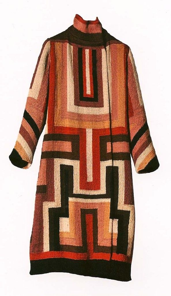 Coat made for Gloria Swanson, by Sonia Delaunay, 1923-24.