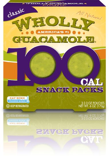 Wholly Guacamole® Snack Pack (An economical and tasty alternative to homemade guac. And the snack packs include three pouches that can be frozen for up to three months so you'll always have guacamole on hand.)
