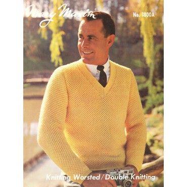 Mary Maxim - Men's Pullover Pattern