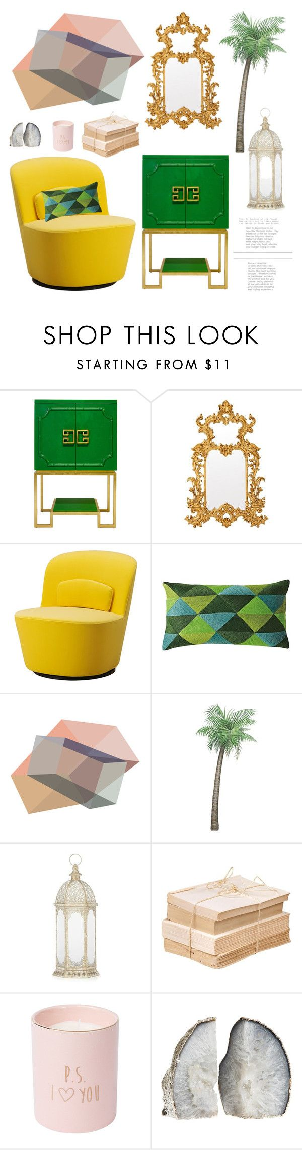 Yellow Green And Gold By Piedraandjesus Liked On Polyvore Featuring Interior