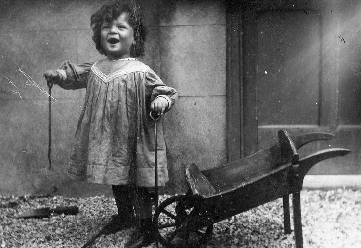 Victorian Child with her Wheelbarrow