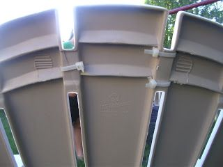 How to Repair a Plastic Adirondack Chair with a drill and zip ties