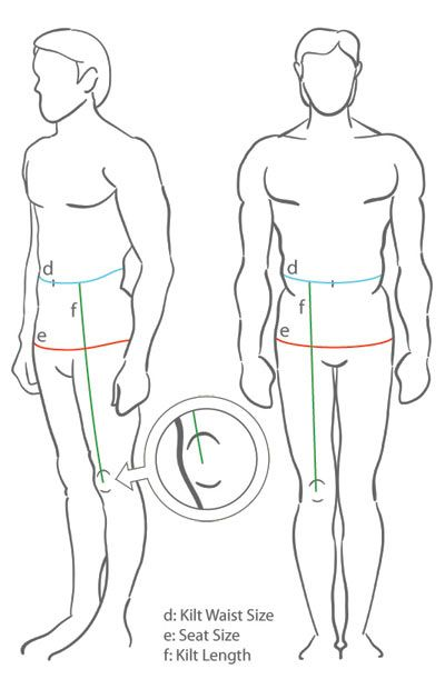 Kilt Measuring Guide                                                                                                                                                                                 More