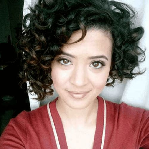 curly asymmetrical bob