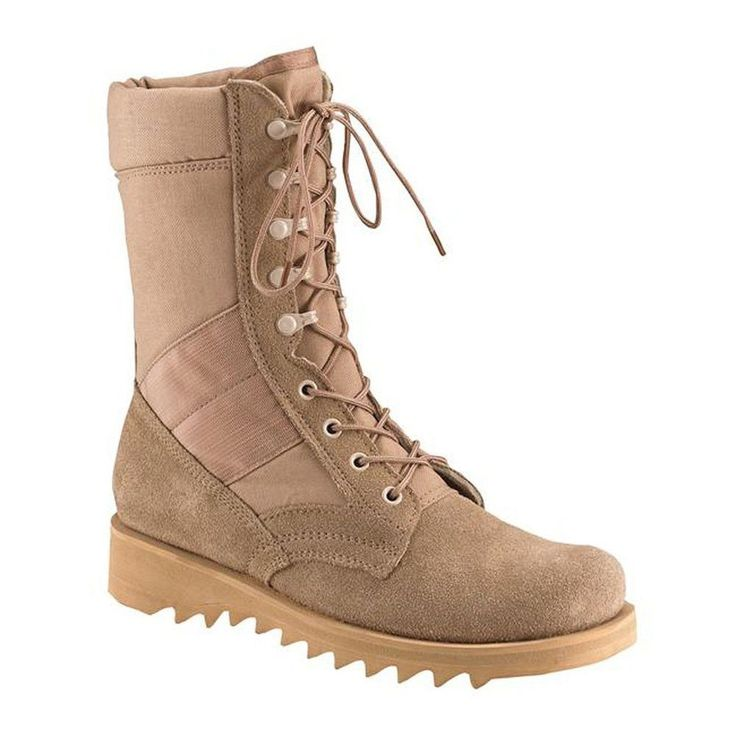 """Jungle Boots Desert Tan Ripple Sole Military Speedlace Leather 8"""" New 3R #Rothco #DesertBoots"""